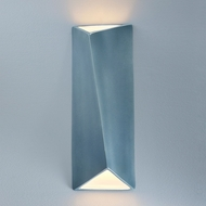 Justice Design CER-5899-MID Ambiance Large Diagonal Rectangle Contemporary Midnight Sky LED Ceramic Wall Lighting Fixture