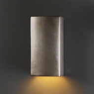 Justice Design CER-5910-ANTS Ambiance Small Rectangle Contemporary Antique Silver LED Ceramic Wall Sconce Light