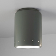 Justice Design CER-6105W Radiance Cylinder Contemporary Ceramic LED Outdoor Ceiling Lighting Fixture