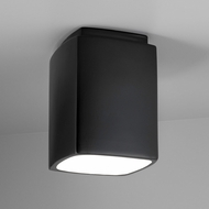 Justice Design CER-6110W Radiance Rectangle Contemporary Ceramic LED Outdoor Overhead Lighting