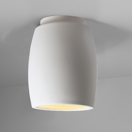 Justice Design CER-6130W Radiance Curved Contemporary Ceramic LED Outdoor Flush Mount Ceiling Light Fixture