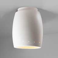 Justice Design CER-6135 Radiance Curved Contemporary Ceramic LED Home Ceiling Lighting