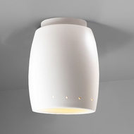 Justice Design CER-6135W Radiance Curved Contemporary Ceramic LED Outdoor Overhead Light Fixture