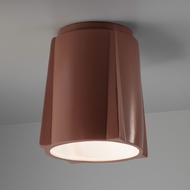 Justice Design CER-6140-CLAY Radiance Compass Modern Canyon Clay LED Ceramic Home Ceiling Lighting