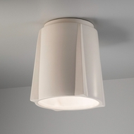 Justice Design CER-6140W-MAT Radiance Compass Contemporary Matte White LED Outdoor Ceramic Ceiling Lighting Fixture