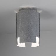 Justice Design CER-6160W-CONC Radiance Stagger Contemporary Concrete LED Outdoor Ceramic Ceiling Lighting Fixture