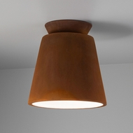 Justice Design CER-6170-RRST Radiance Trapezoid Contemporary Real Rust LED Ceramic Flush Ceiling Light Fixture