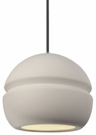 Justice Design CER-6410 Radiance Small Sphere Contemporary Ceramic LED Mini Hanging Light Fixture