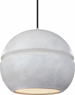 Justice Design CER-6415-CONC Radiance Contemporary LED Hanging Pendant Light