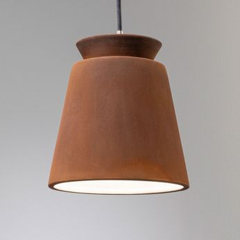 Justice Design CER-6425-RRST Radiance Small Trapezoid Modern Real Rust LED Mini Ceramic Drop Lighting