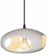 Justice Design CER-6440 Radiance Punch Contemporary Ceramic LED Drop Lighting Fixture