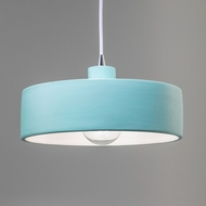 Justice Design CER-6460-RFPL Radiance Dish Contemporary Reflecting Pool Drum Ceramic Drop Ceiling Light Fixture