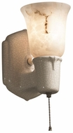 Justice Design CER-7151 American Classics Chateau Single-Arm Modern Ceramic LED Wall Sconce Lighting