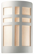 Justice Design CER-7285 Ambiance Small Cross Window Modern Ceramic LED Wall Light Fixture
