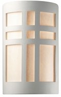 Justice Design CER-7295 Ambiance Large Cross Window Contemporary Ceramic LED Wall Lighting Sconce