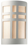 Justice Design CER-7295W Ambiance Large Cross Window Modern Ceramic LED Outdoor Wall Sconce Lighting