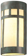 Justice Design CER-7357W Ambiance Prairie Window Contemporary Ceramic LED Outdoor Wall Lamp