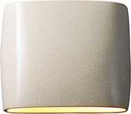 Justice Design CER-8850-CRK Ambiance Modern White Crackle LED 12  Wall Light Fixture