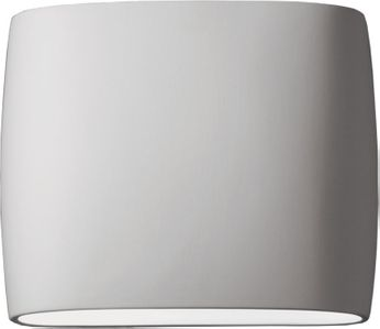 Justice Design CER-8850W-BIS Ceramic Ambiance Contemporary Bisque LED Exterior 12 Wall Mounted Lamp