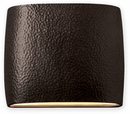 Justice Design CER-8850W-SLTR Ambiance Modern Tierra Red Slate LED Exterior 12  Wall Sconce Light