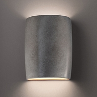 Justice Design CER-8858W Ambiance Large Wide Cylinder Contemporary Ceramic LED Outdoor Sconce Lighting