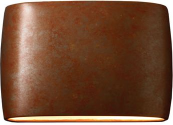 Justice Design CER-8898W-PATR Ceramic Ambiance Contemporary Rust Patina LED Exterior 16 Lighting Wall Sconce