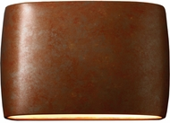 Justice Design CER-8899-PATR Ceramic Ambiance Modern Rust Patina LED 16 Wall Light Sconce