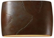 Justice Design CER-8899-SLTR Ceramic Ambiance Contemporary Tierra Red Slate LED 16 Wall Sconce