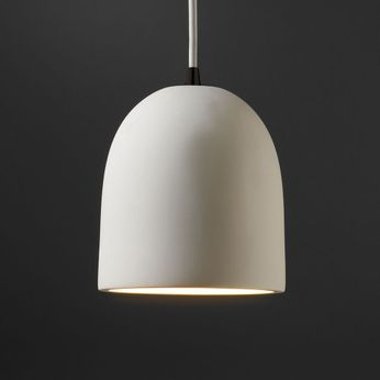 Justice Design CER-9610 Radiance Small Bell Contemporary Ceramic LED Mini Hanging Light