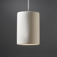Justice Design CER-9620 Radiance Small Cylinder Contemporary Ceramic LED Mini Pendant Lighting Fixture
