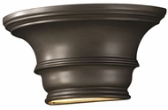 Justice Design CER-9810 Ambiance Curved Concave Ceramic LED Lighting Wall Sconce