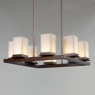 Justice Design CLD-7519W Clouds Laguna Modern Outdoor Chandelier Lighting