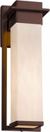 Justice Design CLD-7544W Clouds Pacific Contemporary LED Exterior Large Wall Sconce Light
