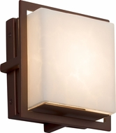 Justice Design CLD-7561W-DBRZ Clouds Avalon Modern Dark Bronze LED Outdoor Square Wall Lighting