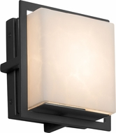 Justice Design CLD-7561W-MBLK Clouds Avalon Contemporary Matte Black LED Exterior Square Sconce Lighting
