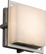 Justice Design CLD-7561W-NCKL Clouds Avalon Modern Brushed Nickel LED Outdoor Square Light Sconce