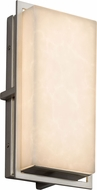 Justice Design CLD-7562W-NCKL Clouds Avalon Contemporary Brushed Nickel LED Exterior Small Wall Sconce Lighting