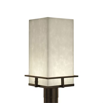 Justice Design CLD-7563W Clouds Avalon Contemporary LED Outdoor Post Lamp