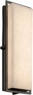 Justice Design CLD-7564W-MBLK Clouds Avalon Contemporary Matte Black LED Exterior Large Lighting Wall Sconce