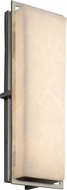 Justice Design CLD-7564W-NCKL Clouds Avalon Modern Brushed Nickel LED Outdoor Large Wall Lighting Sconce