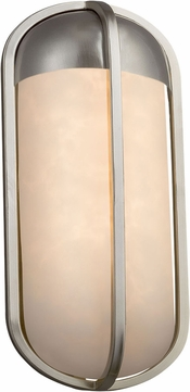 Justice Design CLD-7571W-NCKL Clouds Starboard Contemporary Brushed Nickel LED Exterior Small Wall Light Sconce