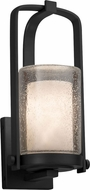 Justice Design CLD-7581W-10-MBLK Clouds Atlantic Modern Matte Black Outdoor Small Wall Sconce Light