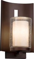 Justice Design CLD-7591W-10-DBRZ Clouds Embark Contemporary Dark Bronze Exterior Light Sconce