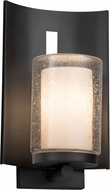 Justice Design CLD-7591W-10-MBLK Clouds Embark Modern Matte Black Outdoor Lighting Sconce