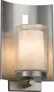 Justice Design CLD-7591W-10-NCKL Clouds Embark Contemporary Brushed Nickel Exterior Lamp Sconce