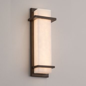 Justice Design CLD-7612W Clouds Monolith Contemporary Outdoor Wall Lighting