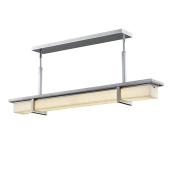 Justice Design CLD-7619W-NCKL Clouds Monolith Contemporary Brushed Nickel LED Outdoor Kitchen Island Lighting
