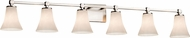 Justice Design CLD-8426 Clouds Tetra Contemporary 6-Light Bathroom Wall Sconce