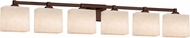 Justice Design CLD-8436 Clouds Regency Modern 6-Light Bath Wall Sconce