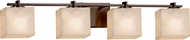 Justice Design CLD-8444 Clouds Era Modern 4-Light Bathroom Sconce Lighting